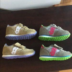 2 pairs of Sauconys Jazz Sneakers